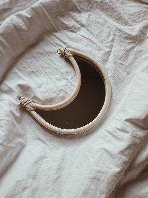 Rattan Moon Mirror
