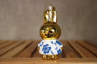 Miffy Delft blue dress / Ornament glass Nijnje