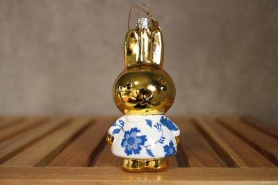 Miffy Delft blue dress / Ornament glass Nijnje