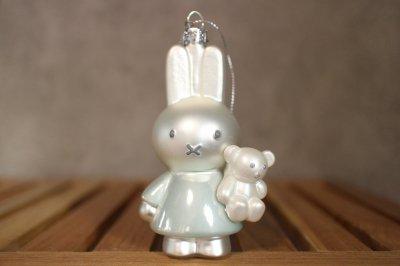 Miffi w / baby blue w / bear / Ornament glass Nijnje