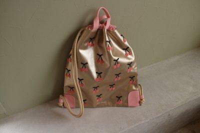 City Bag Cherry Pompon