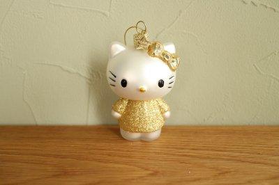 Hello Kitty ゴールド ドレス / ガラス オーナメント Hello Kitty