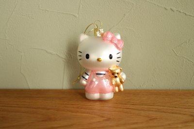 Hello Kitty ピンク くま / ガラス オーナメント Hello Kitty