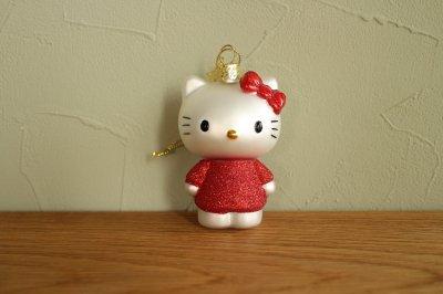 Hello Kitty 赤 ドレス / ガラス オーナメント Hello Kitty