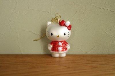 Hello Kitty クリスマス ドレス / ガラス オーナメント Hello Kitty
