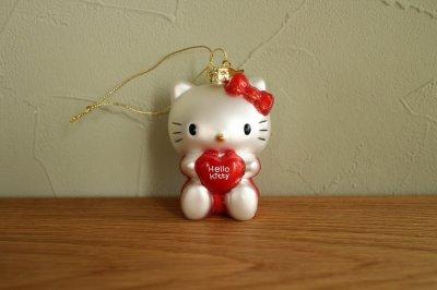 Hello Kitty ハート / ガラス オーナメント Hello Kitty