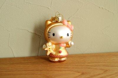 Hello Kitty ジンジャーブレッド / ガラス オーナメント Hello Kitty