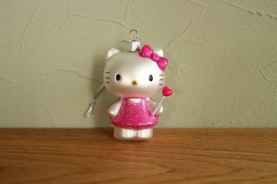 Hello Kitty 魔法の杖 / ガラス オーナメント Hello Kitty