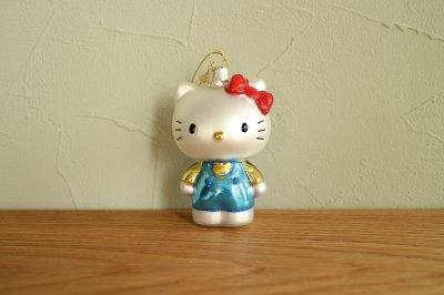 Hello Kitty ブルー パンツスーツ / ガラス オーナメント Hello Kitty