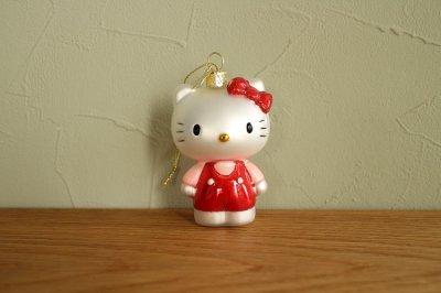 Hello Kitty 赤 パンツスーツ / ガラス オーナメント Hello Kitty