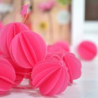 Guirlande sphères rose orchidée