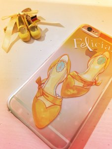 iPhoneケース Yellow (iphone6, 7対応)