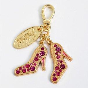 ストーンフラットヒール  vivid pink/gold