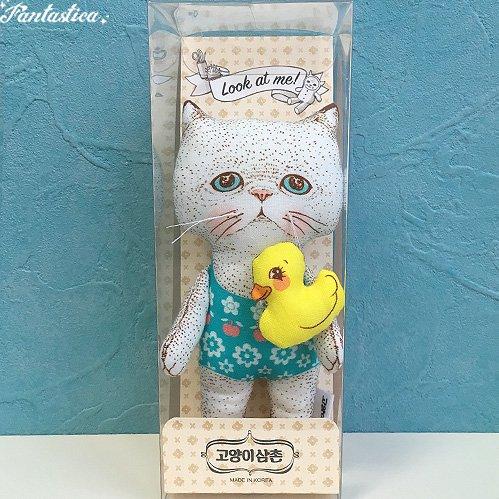 【コヤンイ サムチョン・アンクルキャット】ドール ビアード BEARD 猫のぬいぐるみ人形 Sサイズ