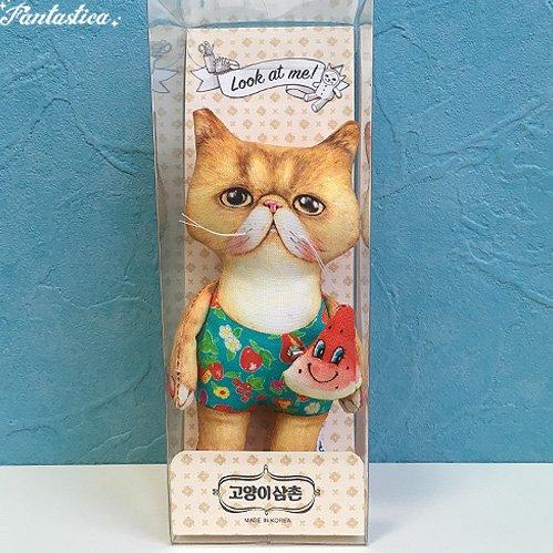【コヤンイ サムチョン・アンクルキャット】ドール クム GEUM 猫のぬいぐるみ人形 Sサイズ