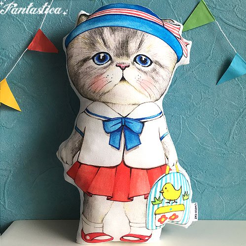 【コヤンイ サムチョン・アンクルキャット】猫のドール・クッション 幼稚園のルミ RUMI goes to the kindergart…