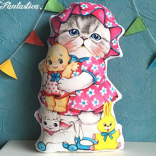 【コヤンイ サムチョン・アンクルキャット】猫のドール・クッション ヴィンテージ・トイズとルミ RUMI and old to…