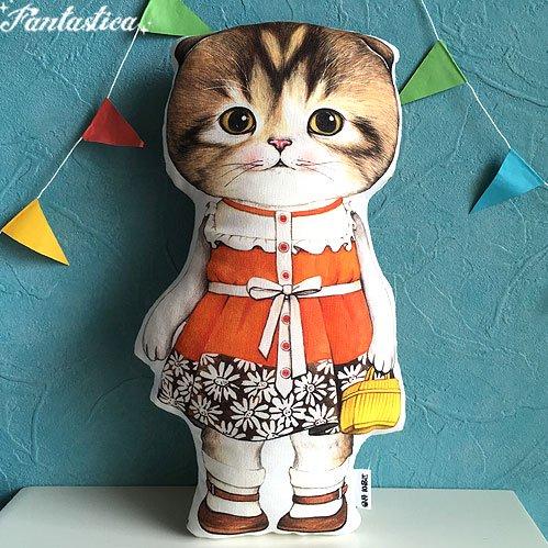 【コヤンイ サムチョン・アンクルキャット】猫のドール・クッション フラワースカートのマロン MARONG in the flower ski…
