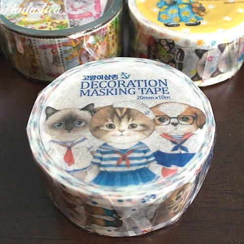 【コヤンイ サムチョン・アンクルキャット】マスキングテープ セイラー I love sailor