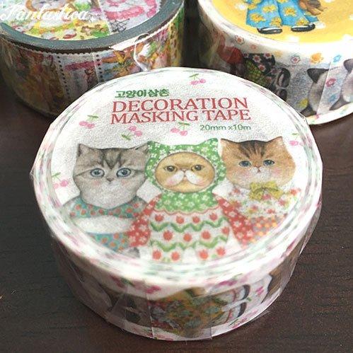 【コヤンイ サムチョン・アンクルキャット】マスキングテープ 私を見つめる猫 Cats are looking at me