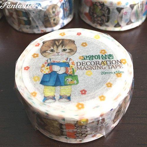 【コヤンイ サムチョン・アンクルキャット】マスキングテープ マロン Marong