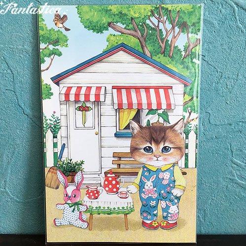 【コヤンイサムチョン・アンクルキャット】ポストカード / ボリーと森のカフェ