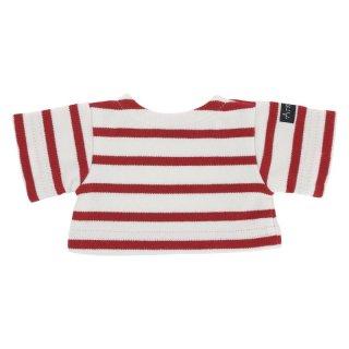 Les Petites Maries ぬいぐるみ用ボーダーシャツ(赤)