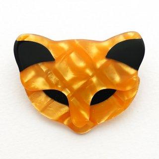 リア・スタン バッカス猫 顔のブローチ 8