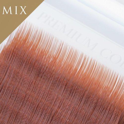 オレンジブラウン エクステ 12列  MIX