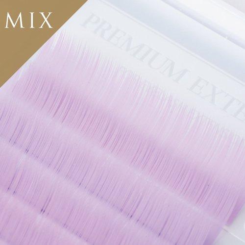 ライトバイオレット エクステ 12列  MIX