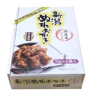 新潟ぬれおかき 甘口醤油味(75g×4袋入)