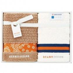 BEAMS DESIGN(ビームス デザイン)<p>フェイスタオル2P オレンジ</P>