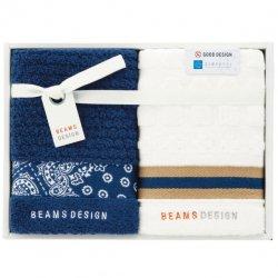 BEAMS DESIGN(ビームス デザイン)<p>フェイスタオル2P ネイビーブルー</P>