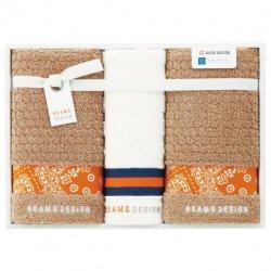 BEAMS DESIGN(ビームス デザイン)<p>フェイスタオル2P&ウォッシュタオル</P><p>オレンジ</P>