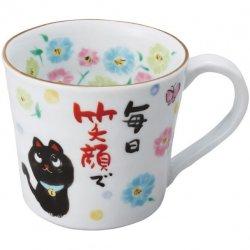 夕立窯 感謝<p>マグカップ 黒猫 YK-570</p>