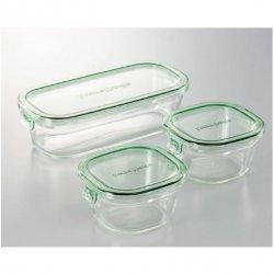 iwaki(イワキ) 耐熱ガラス <p> パック&レンジ 角型3点セット</p>