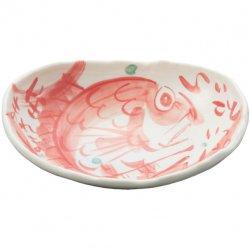 夕立窯 めでたい<p>どーんと楕円鉢 赤鯛 B-191</p>