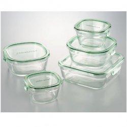 iwaki(イワキ) 耐熱ガラス <p> パック&レンジ 角型5点セット</p>