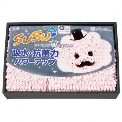 山崎産業SUSU〈 超吸水 超抗菌〉<p>マイクロファイバーバスマットL<br>ピンク</p>
