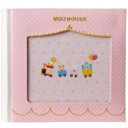 [ミキハウス] MIKIHOUSE 【箱入】<p> フォトフレーム付き ミニアルバム<br> (ポケット式) 46-1209-846 ピンク</p>