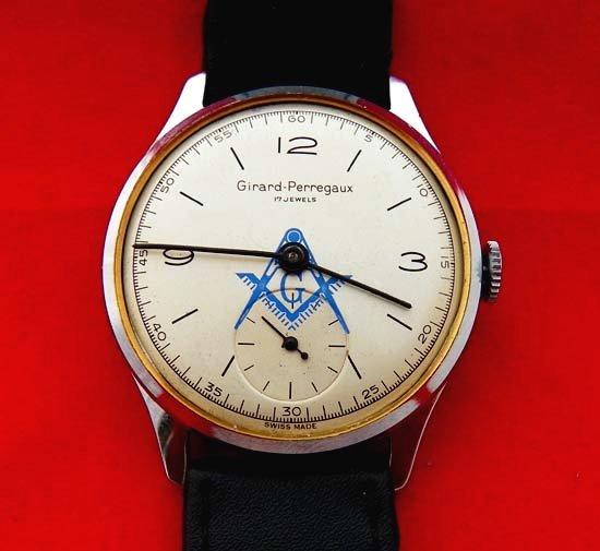 275809bc4c 【Girard Perregaux - ジラールペルゴ】 ヴィンテージフリーメイソン柄メンズ腕時計(4)