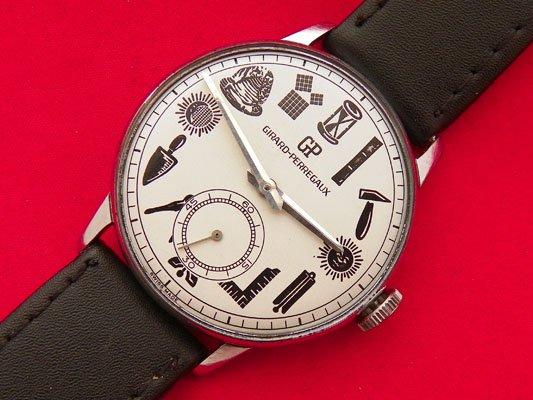 2a401a55c6 【Girard Perregaux - ジラールペルゴ】 ヴィンテージフリーメイソン柄メンズ腕時計