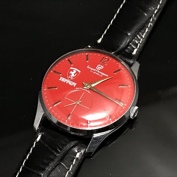 new product bf38b 0eaa7 【Girard Perregaux - ジラールペルゴ×フェラーリ】 ヴィンテージメンズ腕時計 (赤) - アンティーク腕時計のfreemen  ~パテックフィリップやランゲ&ゾーネ等の腕時計通販販売