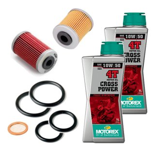 オイル交換キット【MOTOREX OIL CROSS POWER 4T(10W-50) 】