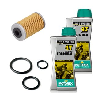 オイル交換キット【MOTOREX OIL FORMULA 4T(15W-50)】250-390