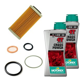 オイル交換キット【OFFROAD 4ST MOTOREX OIL CROSS POWER 4T(10W-50)】250-350EXC-F<img class='new_mark_img2' src='//img.shop-pro.jp/img/new/icons30.gif' style='border:none;display:inline;margin:0px;padding:0px;width:auto;' />