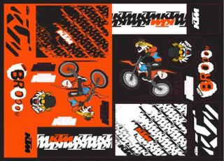 TEAM GRAPHIC STICKER SHEET【3PW210024500】