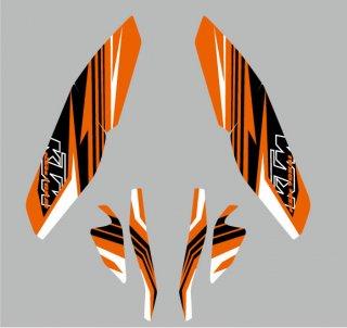 KTM-TOKAI オリジナルセミオーダーデカール for DUKE -ORANGE