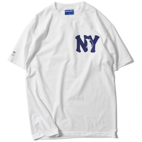 <img class='new_mark_img1' src='https://img.shop-pro.jp/img/new/icons50.gif' style='border:none;display:inline;margin:0px;padding:0px;width:auto;' />Lafayette ラファイエット RUN NYC TEE ランエヌワイシーティー WHITE