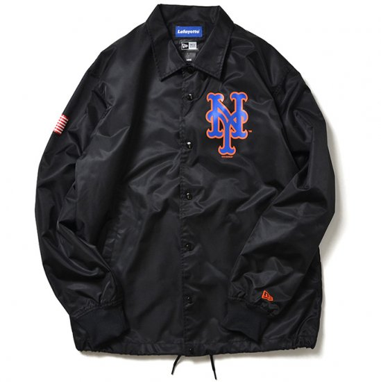 <img class='new_mark_img1' src='//img.shop-pro.jp/img/new/icons50.gif' style='border:none;display:inline;margin:0px;padding:0px;width:auto;' />Lafayette×NEW YORK METS×NEW ERA NY COACHES JACKET ニューヨークコーチジャケット BLACK